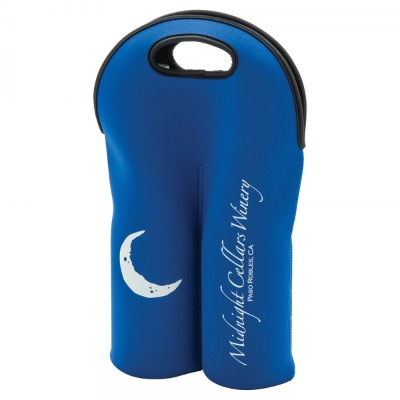 Image of Neoprene Double Wine Bottle Holder